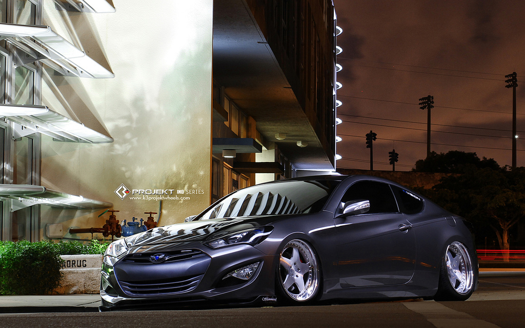 2013 Hyundai Genesis Coupe Bagged To Perfection Stitched