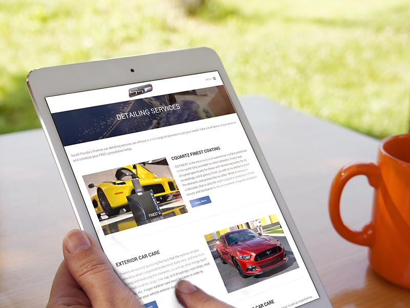 Scheer Detailing iPad view