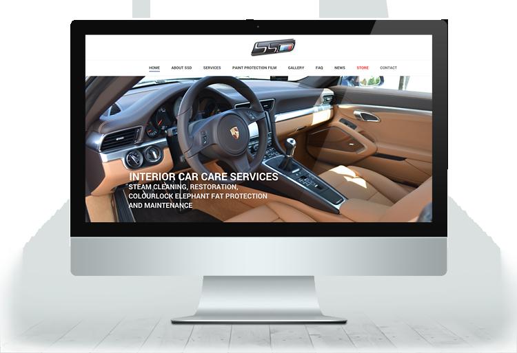 Scheer Detailing iMac responsive view