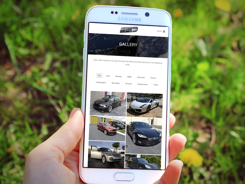 Auto Detailing gallery on Samsung phone