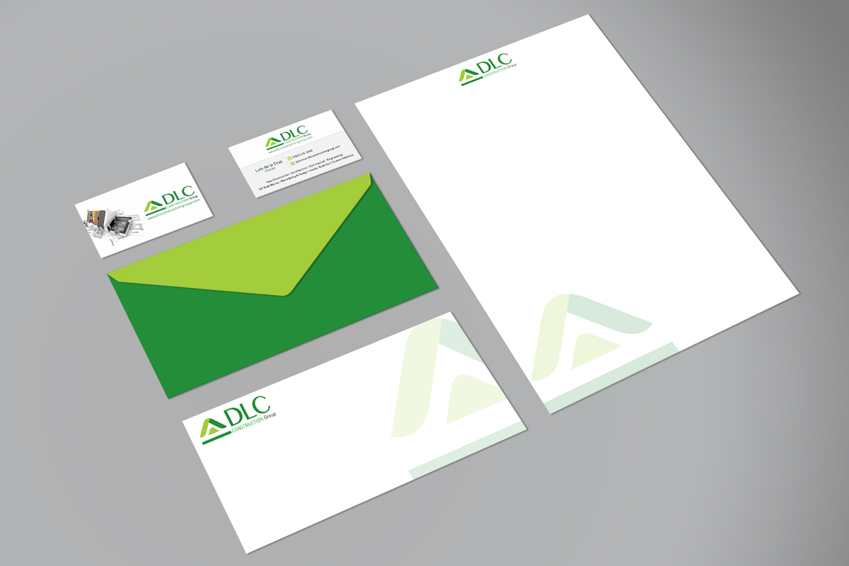 DLC Construction Group Stationary Print Collateral