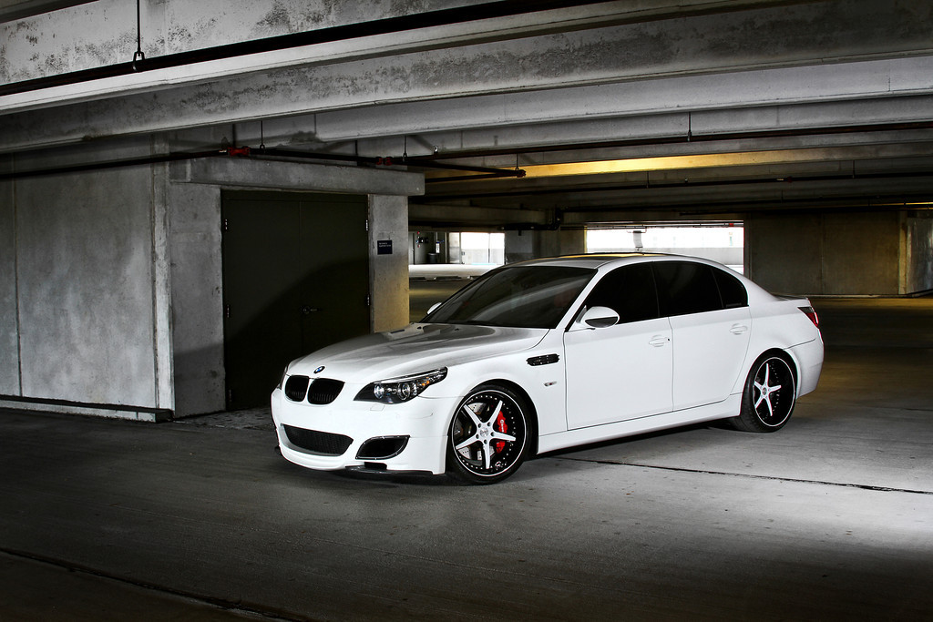 Bmw E60 M5 White Automotive Gallery Stitched Production