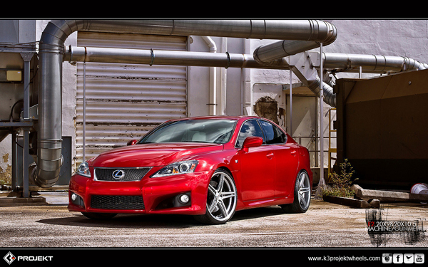 Slammed Lexus Isf With K3 Projekt Wheels Stitched Production