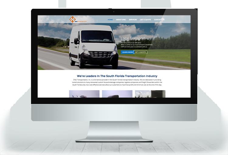 DNG Transportation - Miami Web Design & Development
